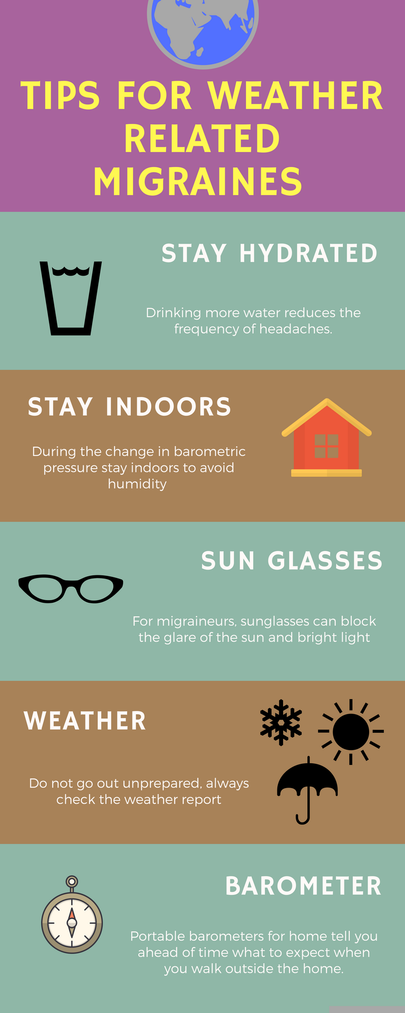 Tips for weather related migraines